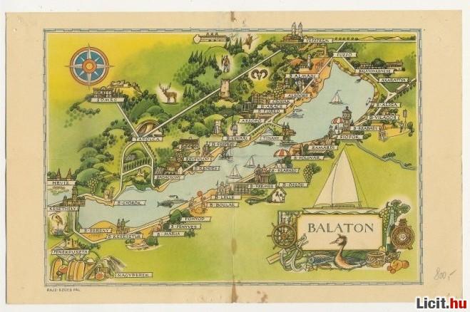 régi balaton térkép Licit.hu Régi Balaton térkép Az ingyenes aukciós piactér   licit  régi balaton térkép