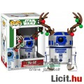 Eladó 10cmes Funko POP figura R2-D2 / R2D2 droid figura - Karácsonyi Star Wars karikatúra figura rénszarva