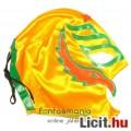 felvehető Pankráció / Pankrátor Maszk - sárga Rey Mysterio maszk zöld-narancs díszítéssel - szövetbő