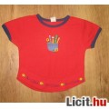 Eladó piros virágos lányka póló,méret:86/92