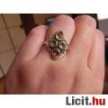 Természetes citrin köves gyűrű 1,82cm-es 57-es