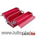 Eladó szerszámosláda fém 40×20×20cm, 5 rekesz, festett lemez