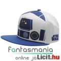 Eladó eredeti snapback sapka Star Wars R2-D2 / R2D2 droid anyagában mintás első résszel, állítható felnőtt