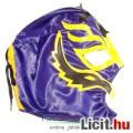 Eladó felvehető Pankráció / Pankrátor Maszk - lila Rey Mysterio maszk sárga-fekete díszítéssel - szövetből