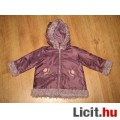 tündéri lila hímzett,szőrmés kabátka,méret:74/ 80