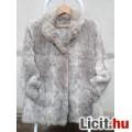 Eladó *Szürke nyuszi félhosszú bunda/kabát kb.42/44-es