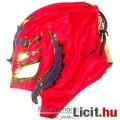 Eladó Pankrátor maszk - Rey Mysterio piros-arany-lila felvehető mexikói Lucha Libre Pankráció maszk