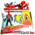 Pókember figura - 10cm-es Spider-Man kék páncélos ruhás figura háló pajzzsal