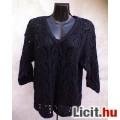 Eladó *MORE&MORE Fekete kötött csipke pulóver L-es