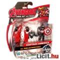 mini Bosszúállók figura - 6cmes Amerika Kapitány / Captain America figura robot ellenség kiegészítőv