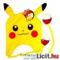 Eladó Pokemon sapka - Pikachu kötött sapka Pokelabda függőkkel - rugalmas anyag, egy méret - hivatalos Nin