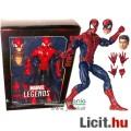 Eladó 30cm-es Marvel Legends - óriás Pókember / Spider-Man figura cserélhető fejekkel és extra-mozgatható