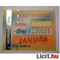 Eladó BKV Havibérlet Tanuló 2006 Január v3 (BKV Bérlet Gyűjteménybe) 2kép :)
