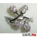 Csodaszép, egyedi, cirkónia köves ezüst gyűrű, %%%