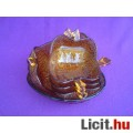 *Bronz színű alma formájú üveg kompótos készlet
