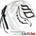 felvehető Pankráció / Pankrátor Maszk - fehér Rey Mysterio maszk fekete díszítéssel - szövetből, fűz