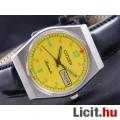 Eladó CITIZEN férfi automata ezüst szín karóra dátum napok sárga számlappal