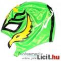 Eladó Pankráció maszk - Rey Mysterio zöld-fekete felvehető Pankrátor Maszk - Lucha / Luchardor mexikói típ