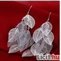 925 sterling ezüst leveles fülbevaló