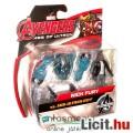 mini Bosszúállók figura - 6cmes Nick Fury figura robot ellenség kiegészítővel - Avengers Age of Ultr