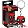Eladó 3cmes mini Deadpool figura Funko Pop kulcstartó - Marvel Szuperhős nagyfejű karikatúra figura kulcst