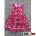Eladó Virágos kislány flanel kötény ruha 104-es