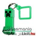 Eladó 5-6cmes Minecraft Creeper figura - mozgatható minifigura + rárakható kulcstartó, csom. nélkül