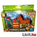 Minecraft - Steve és ló figura szett mozgathatósági pontokkal és kiegészítővel