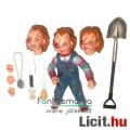 Eladó 10 cm-es Chucky Ultimate NECA figura - Bride of Chucky Gyerekjáték Chucky baba cserélhető fejekkel,