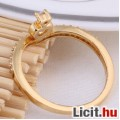 Álomszép fehér zafír strasszos elegáns szív gyűrű - Vadonatúj!