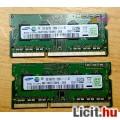 Eladó Samsung 2X2GB 1Rx8 PC3-12800S, DDR3 1600Mhz, duál kit újszerű állapotb