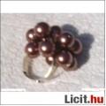 Állítható méretű koktél gyűrű,új