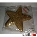 Csillag Dísz Arany Csillámmal 25cm (Dekor dísz) Díszítés