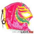Eladó felvehető Pankráció / Pankrátor Maszk - pink Rey Mysterio maszk kék-fehér díszítéssel - szövetből, f