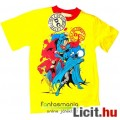 Eladó Igazság Ligája - Póló 7-8 évesnek - Flash, Batman, Superman mintával, sárga