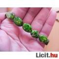 Zöld, tengeri üledékes jáspis karkötő természetes