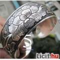 Eladó Tibeti ezüst karkötő, karperec 2,5 cm széles!