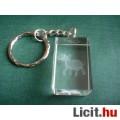 Gravírozott üveg kulcstartó - Elefánt