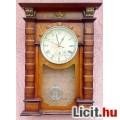 Eladó Vitange elemes falióra, bronz hatású barokk díszítő elemekkel, pontosa