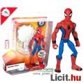 Eladó 15cmes Marvel Pókember / Spider-Man figura visszahúzódó hálóhintával és mozgatható végtagokkal - Dis