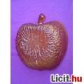 *Bronz színű alma formájú üveg kínáló tál