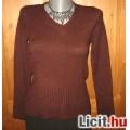 Padlizsán kötött női pulóver,méret:38