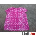 **Bm Pink-fehér flitteres köves blúz XL=UK20