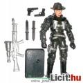 Eladó GI Joe figura - 10cmes Wild Bill zöld ruhában levehető kalappal, távcsöves puskával, plusz fegyverek