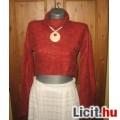 Crazy World bordó kötött pulóver,méret:38