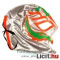 felvehető Pankráció / Pankrátor Maszk - szürke Rey Mysterio maszk narancs-zöld díszítéssel - szövetb