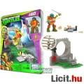 Tini Nindzsa / Ninja Teknőcök - Leonardo figura és Mega Bloks építő játék szett csatornanyílással és