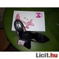 Új, gyönyörű 38-as fekete bársony csinos cipő, alap darab! NÉzd! AkciÓ