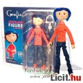 Eladó 18cm-es Coraline baba / figura pulcsiban és farmerben - NECA Coraline és a titkos ajtó baba szövet r