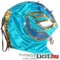 Eladó felvehető Pankráció / Pankrátor Maszk - kék Rey Mysterio maszk arany díszítéssel - szövetből, fűzős